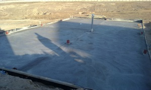 Casting the concrete slab